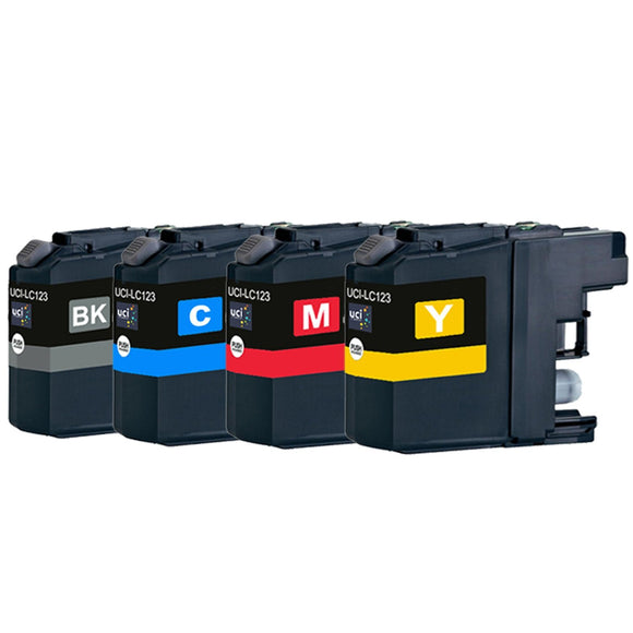 Brother LC123BK,C,M & Y Compatible Ink cartridge Value Pack