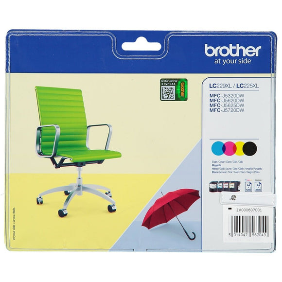 Brother LC-229XL,LC-225XL Hi Capacity Value Pack