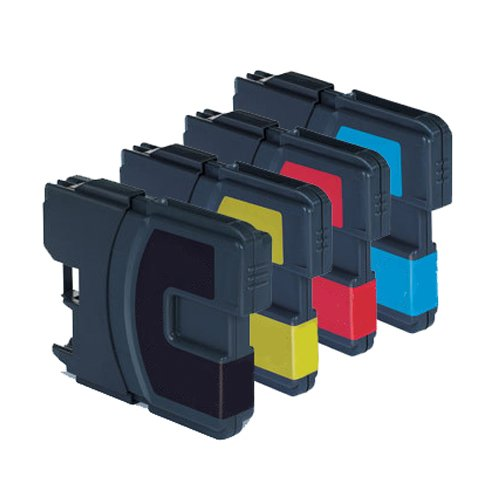 Brother LC980 Compatible Bk,C,M & Y Multi Pack Ink Cartridges