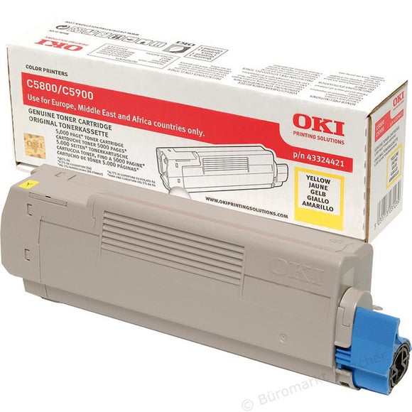 OKI 43324421 Yellow Toner Cartridge