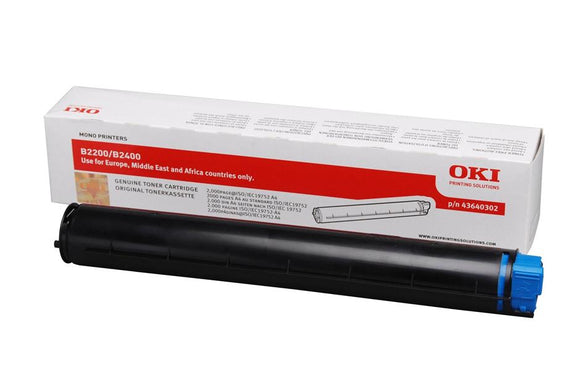 OKI 43640302 Black Toner Cartridge