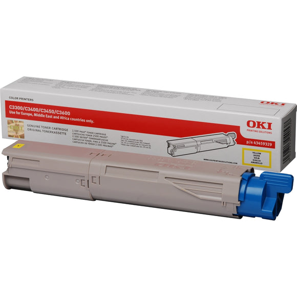 OKI C3450 Yellow Hi Capacity Toner Cartridge