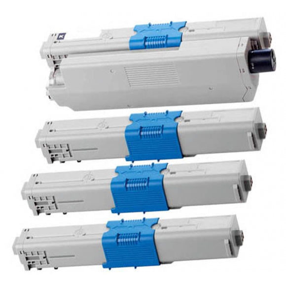 OKI C310 Series Compatible Toner Cartridge Value Pack x 4