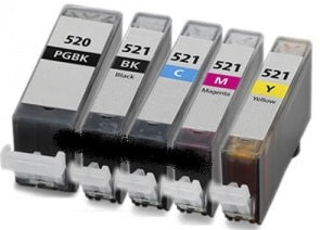 Canon Cli521 & Pg520 Compatible Ink Cartridge Set