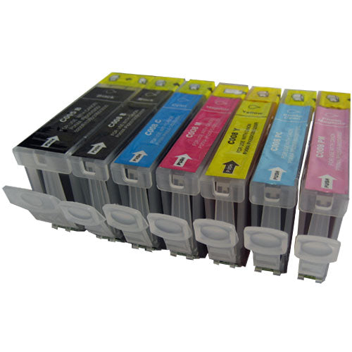 Canon PGi5 BK & CLi8 BK,C,M,Y,PB & PC Compatible Ink Cartridges Multipack