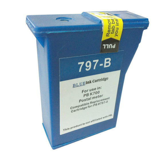 Pitney Bowes DM50 Compatible Blue Ink Cartridge