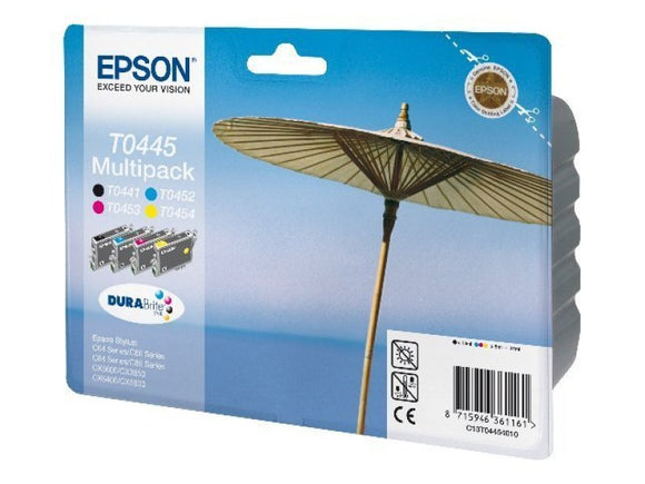Epson T0445 Multi pack BK,C,m & Y Ink cartridges