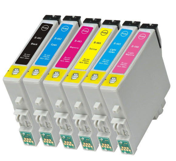 Epson Compatible T0487 Black,C,M,Y,LC,LM Multipack Ink Cartridges
