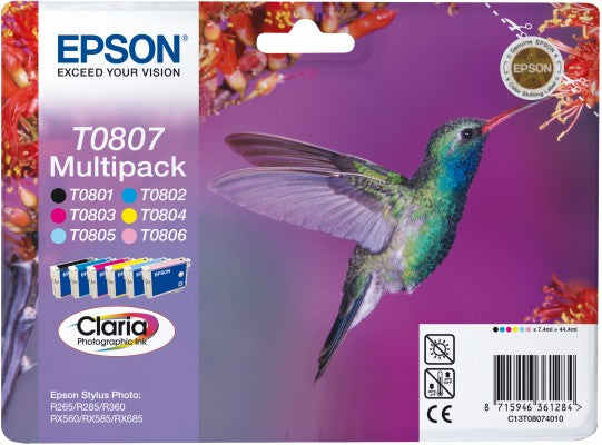 Epson T0807 Multipack Of Ink Cartridges