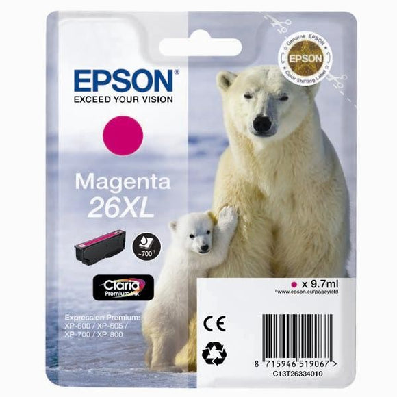 Epson T2633 26XL Hi Capacity Magenta Ink Cartridge