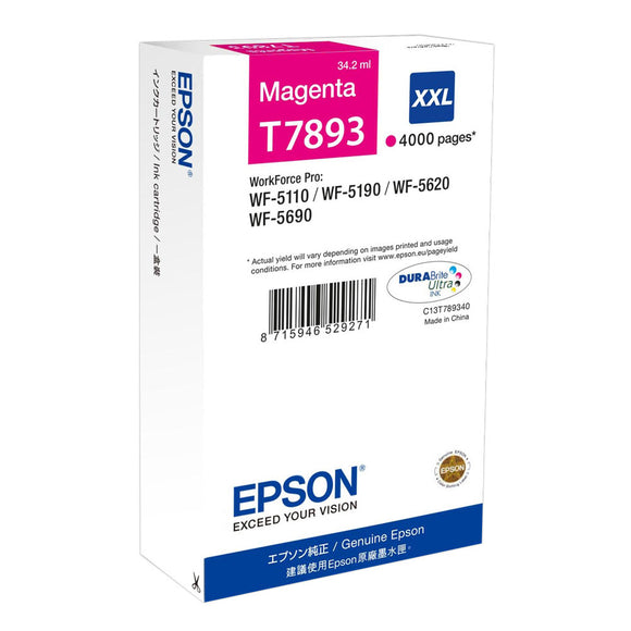 Epson T7893 Magenta XXL Ink Cartridge
