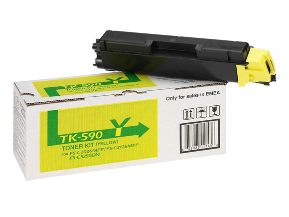 Kyocera TK590 Yellow Toner Cartridge