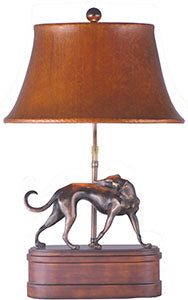 Bronze Library Lamp