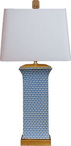 Porcelain Blue & White English Table Lamp