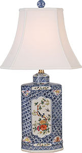 Porcelain Blue& White Imari Medallion Table Lamp