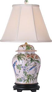 Porcelain Lily Temple Jar Lamp