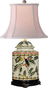 Porcelain Pistachio Scallop Tea Jar Lamp