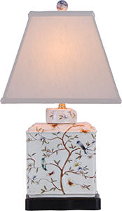 Porcelain White Birch Rectangle Lamp
