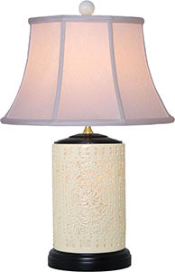 Pierced Bone China Table Lamp