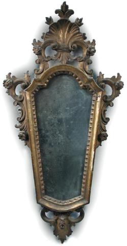 ON HOLD Pair of Gilt Framed Venetian Mirrors, 19C