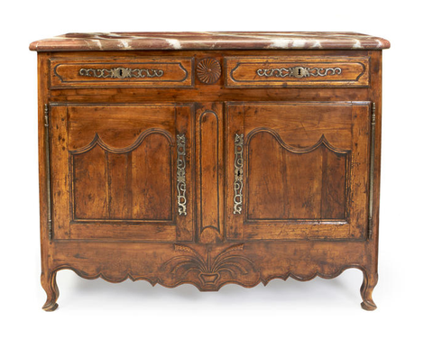 An 18th century Louis XV Provincial fruitwood or beech buffet