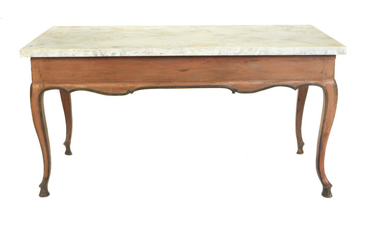 An 18th century Louis XV provincial painted centre table
