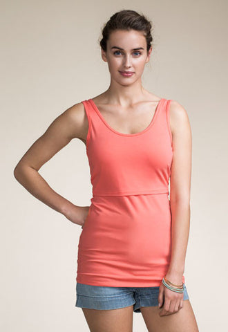 Boob Design Classic Maternity and Nursing Tank Top (Midnight Blue and Watermelon)
