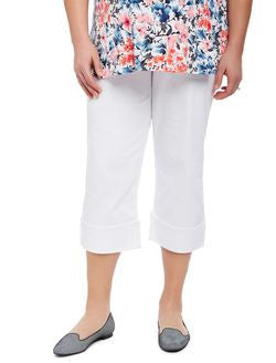 A Pea In The Pod White Secret Fit Belly Straight Ankle Maternity Pant