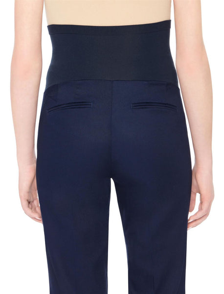 Motherhood Maternity Navy Secret Fit Belly Stretch Twill Boot Maternity Pants