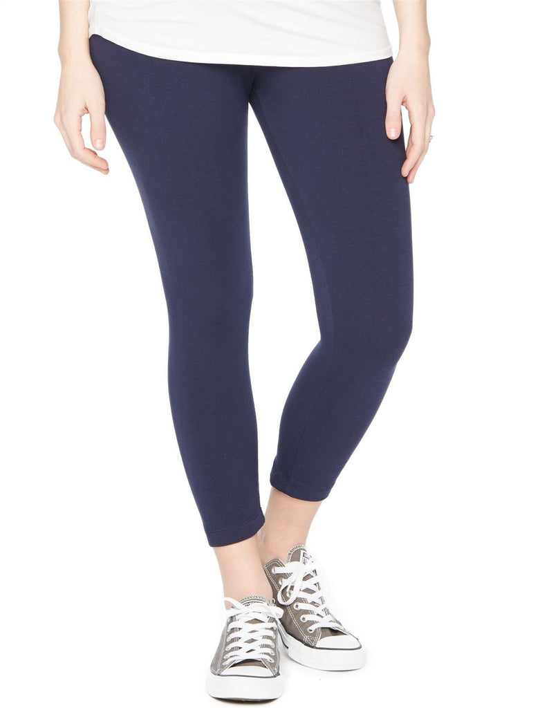 Thyme Maternity cropped navy legging
