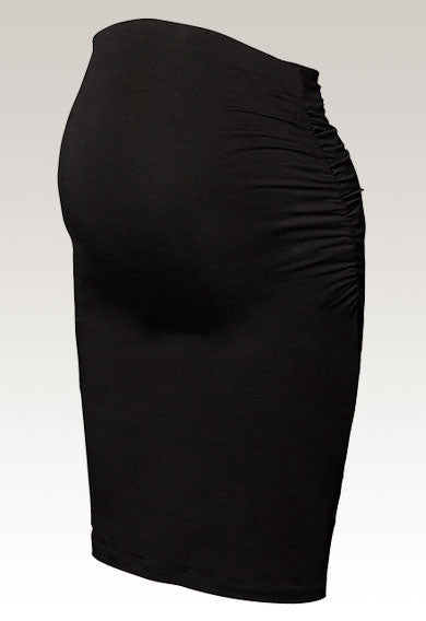 Boob Design Once-On-Never-Off Ruched Skirt (Elephant, Black)