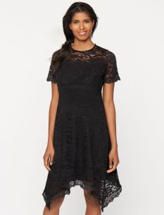 A Pea in the Pod Maternity Lace High-low Dress
