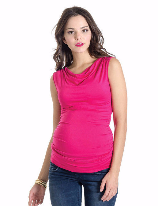 Lilac Clothing Maternity Liz Top Hot Pink