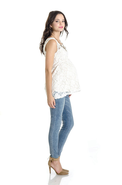 Lilac Clothing Maternity Laila Top Ivory
