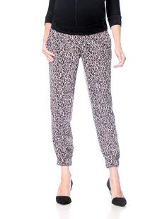 A Pea In The Pod Maternity black and white printed jogger