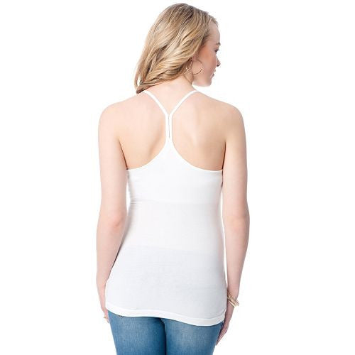 Motherhood Maternity Racerback Tank White