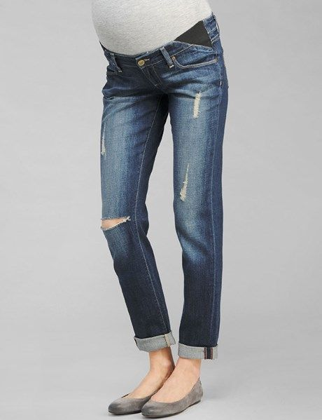 Paige Premium Denim Skinny Jimmy Jimmy Maternity Jean -Tawni Destruction