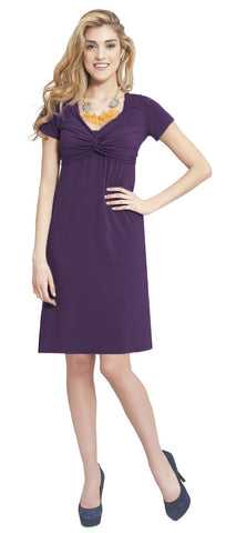 Milk Nursingwear Contemporary knot dress Purple