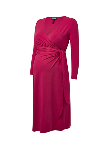 Isabella Oliver The Wrap Maternity Dress - Dahlia Pink