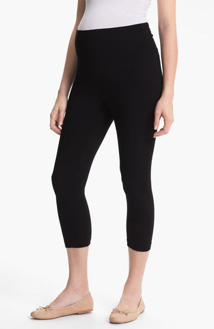 B to B Maternity Black Super Soft Capri Legging