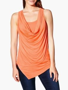 Thyme Maternity Sleeveless Asymmetric Nursing Top