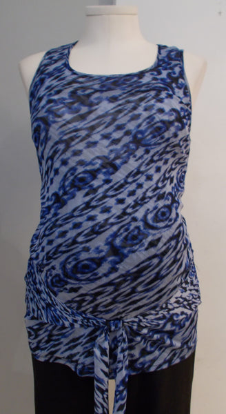 Thyme Maternity - Animal Print Sleeveless Blouse
