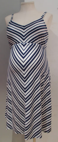 Old Navy Maternity navy and white striped dress