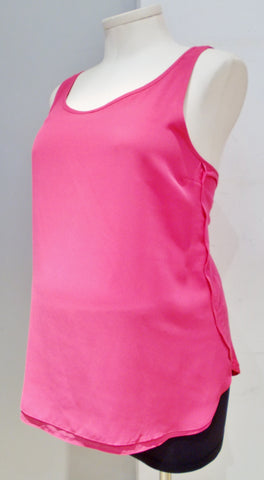 Thyme Maternity hot pink sleeveless blouse