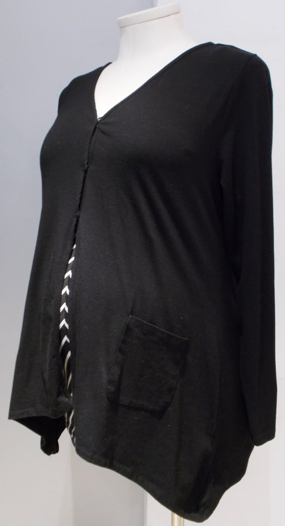 Thyme Maternity black jersey cardigan with pockets
