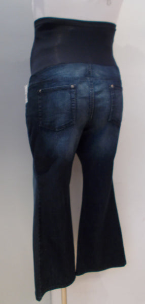 Indigo Blue Maternity dark wash bootcut jeans