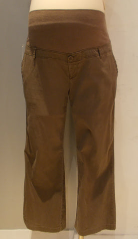 Thyme Maternity brown boot cut pant