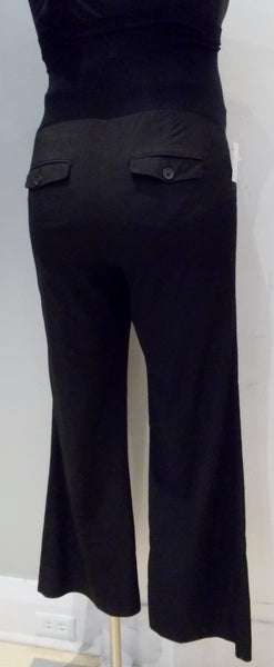 A Pea In The Pod Maternity Secret Fit Belly Bi-stretch Suiting Flare Leg Pinstripe Maternity Pants