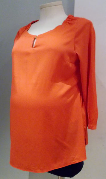 H&M Mama Orange Long Sleeve Blouse