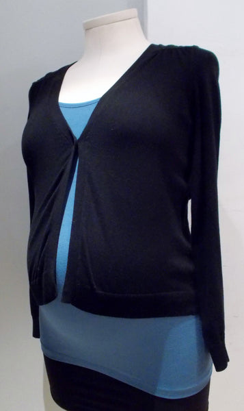 Motherhood Maternity Black One Button Cardigan